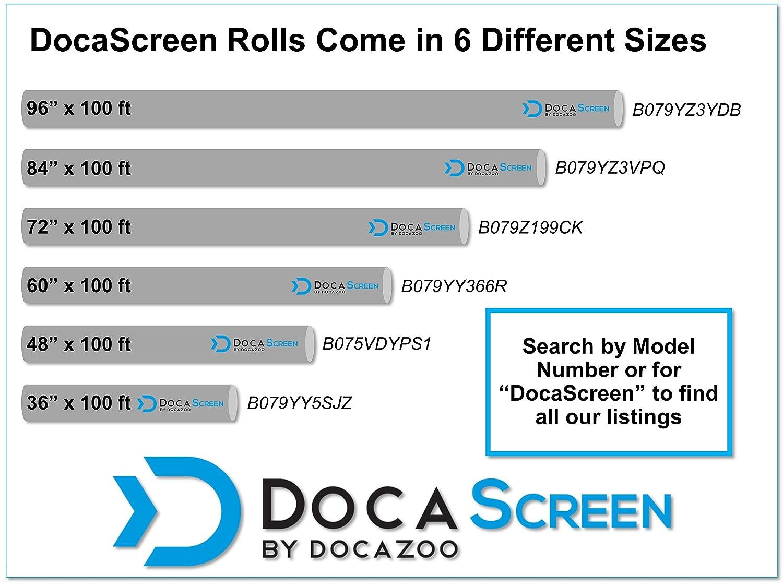"96/"" x 50/' Fiberglass Screen Roll DocaScreen Standard Window Screen Roll Insect Screen //// Fiberglass Screening //// Screen Replacement //// Window Screens Door and Patio Screen Window"