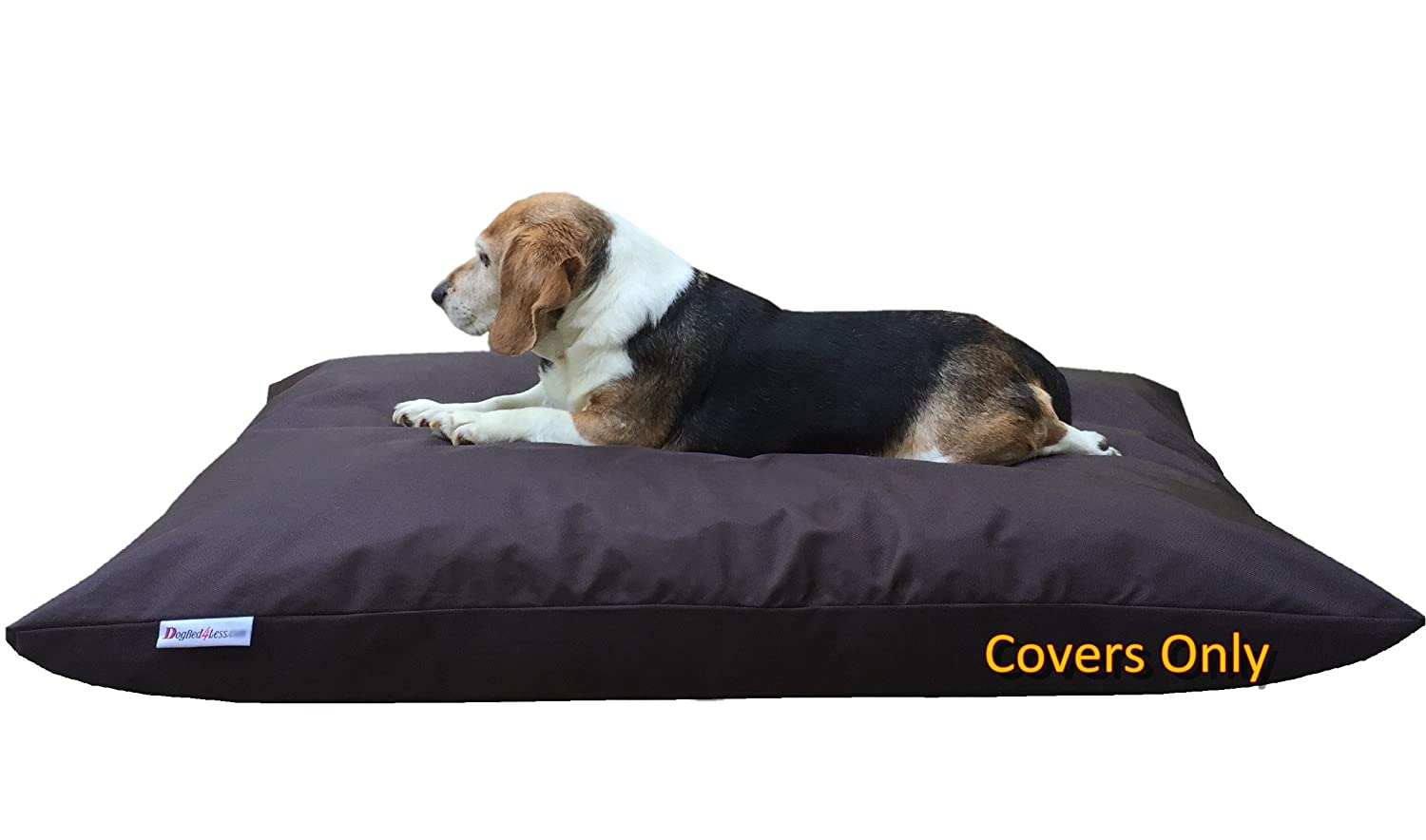 ACW Do It Yourself DIY Pet Bed Pillow Duvet 1680 Durable Cover + Waterproof Internal case for Dog Cat at Medium 36 X29  Seal Brown color Covers only