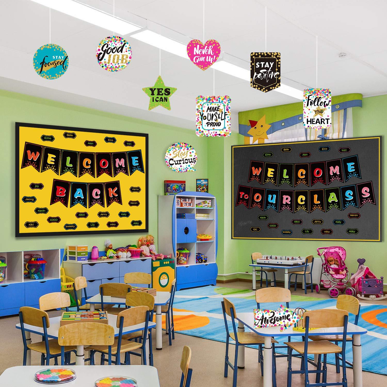 Haus Nursery Dekoration B/üro Herrliche Farben f/ür Bulletin Board Klassenzimmer Dekoration Zonon Konfetti Positive Spr/üche Akzente 20 St/ücke