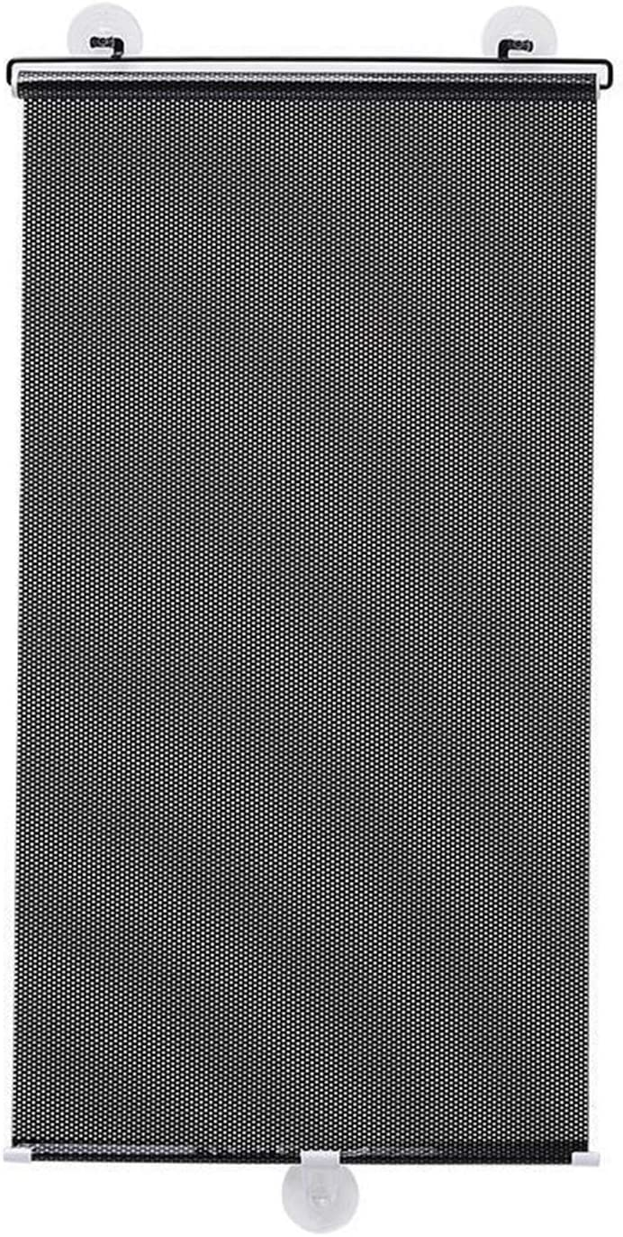 CHHD Indoor Sun Shade Telescopic Roller Blind Sun Shield UV Resistant Insulation Reduce Noise for Home Bathroom Office Glass, 4 Sizes (Color : Black, Size : 40X60CM)