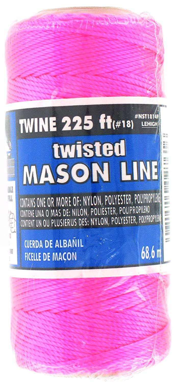 Home Improvement Lehigh Group NST1814PW-P Lehigh Nst1814Phd Twisted Mason Line 8 Lb 225 Neon Pink 8 Lb 225/' Neon Pink Jensen 225 Ft L