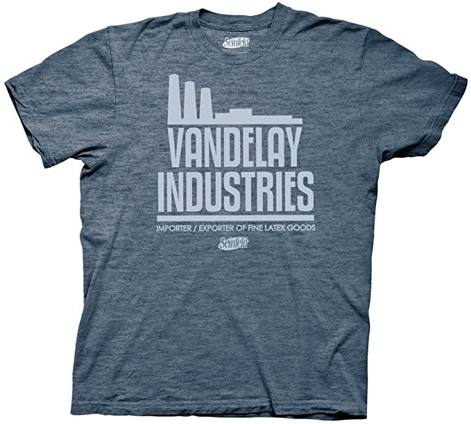 Ripple Junction Seinfeld Vandelay Industries Navy Heather T Shirt S