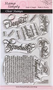 Stamp Simply Clear Stamps Deepest Sympathy Christian Religious Condolences and Loss 4x6 Inch Sheet - 10 Pieces