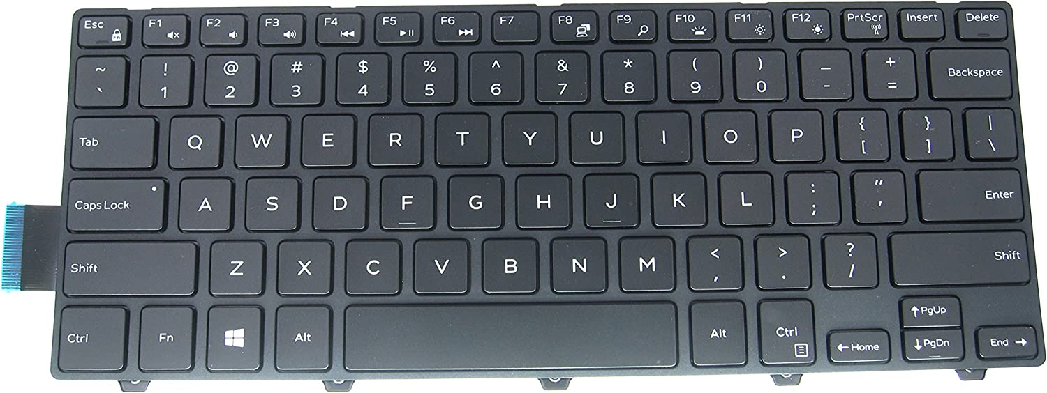 LeFix US Backlit Keyboard with Frame for Dell Inspiron or Vostro 14 5000 5442 5443 5445 5446 5447 5448 5451 5452 5455 5457 5458 5459/14 7447 / Latitude 3450 3460 3470 3480 3488