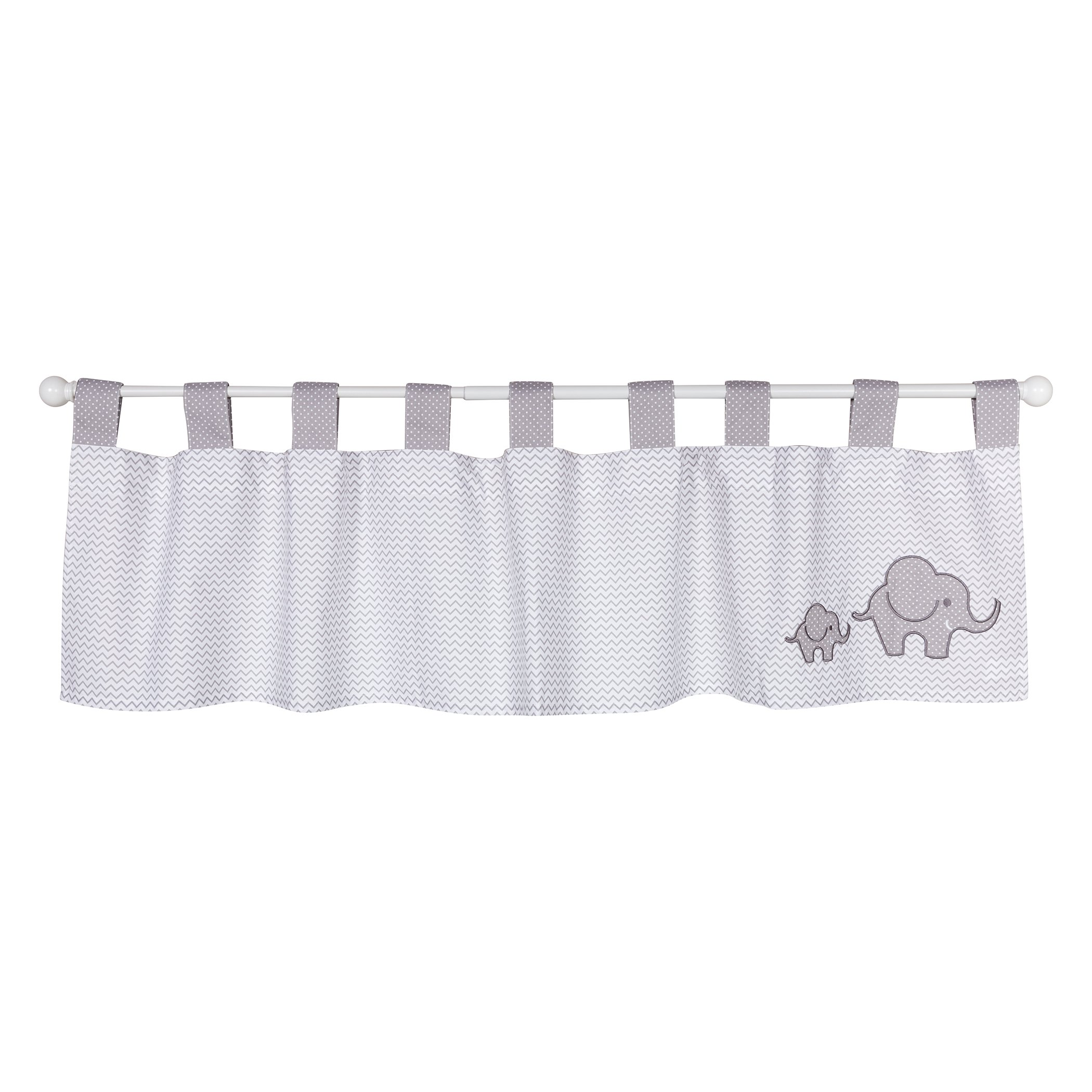 Trend Lab Safari Chevron Window Valance, Gray/White