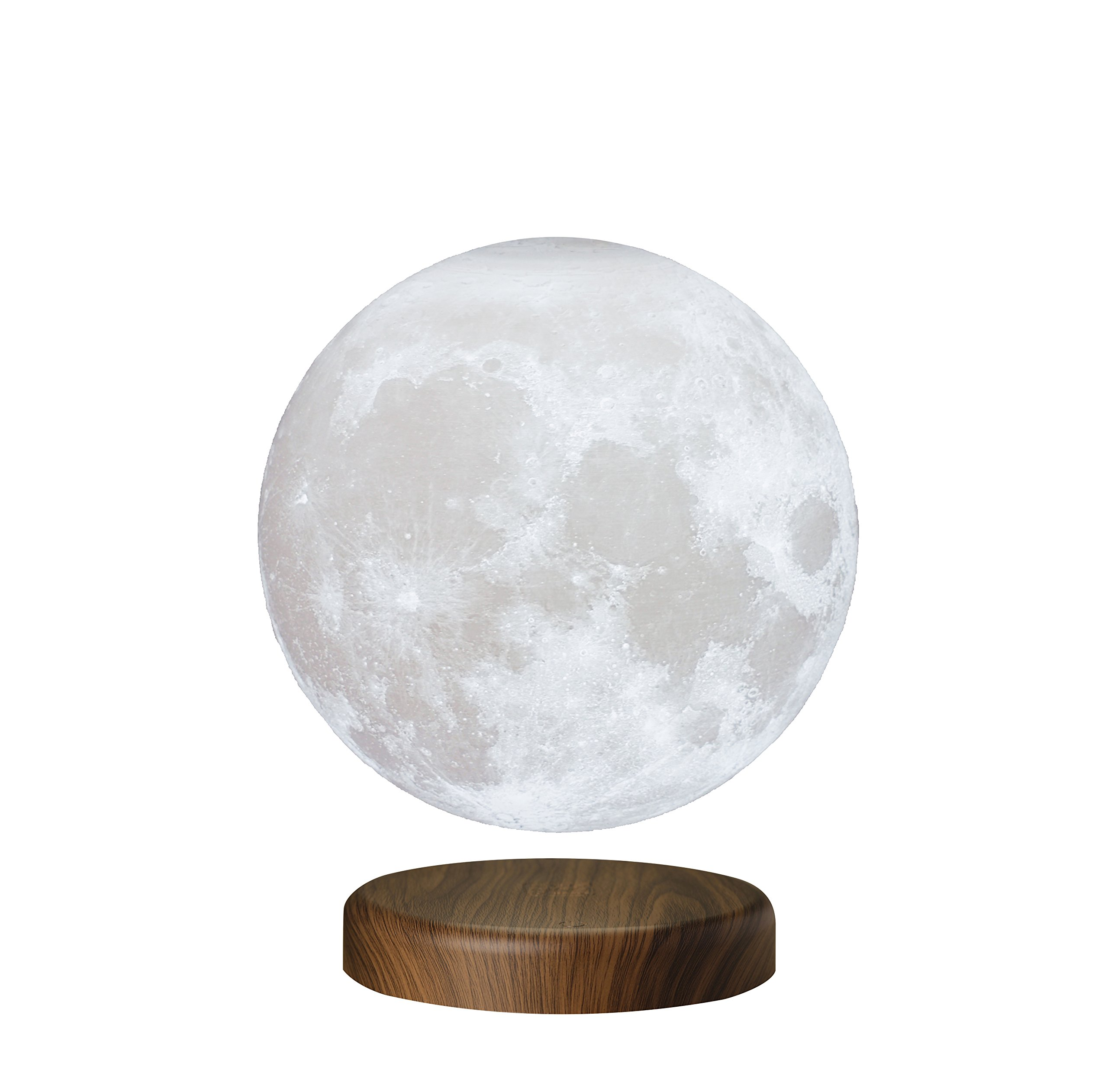 Levituna Magnetic Levitation Floating Moon 3D Printing LED Night Light Rotating Lunar Table Lamp for Home Desk Office Decor 7.1IN