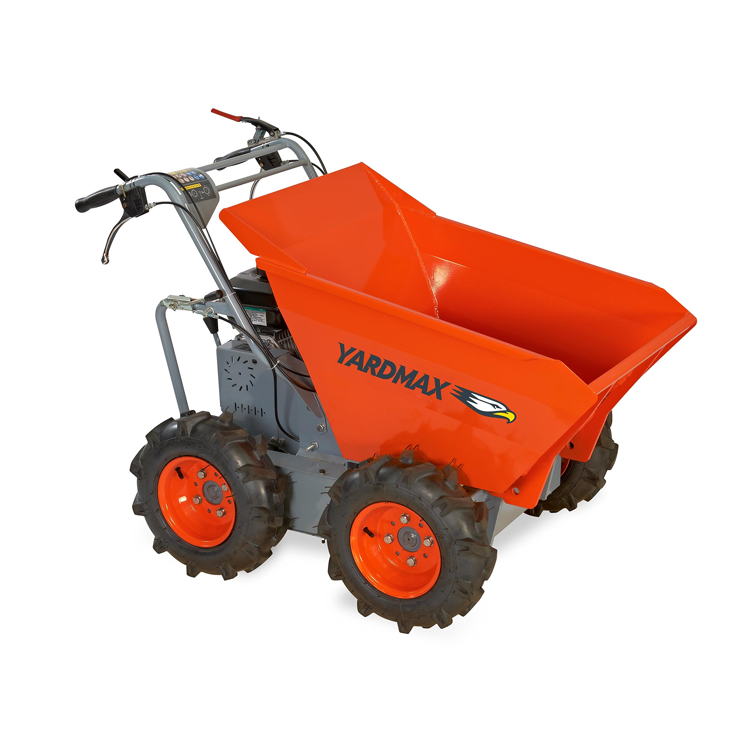 YARDMAX YD4103 Power Wheel Barrow, 660 lb. Capacity, Briggs and Stratton, CR950, 6.5 hp, 208cc