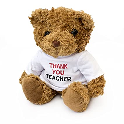 NEW Thank You Teacher - Cuddly Teddy Bear - Gift Present To Say Thanks Teacher