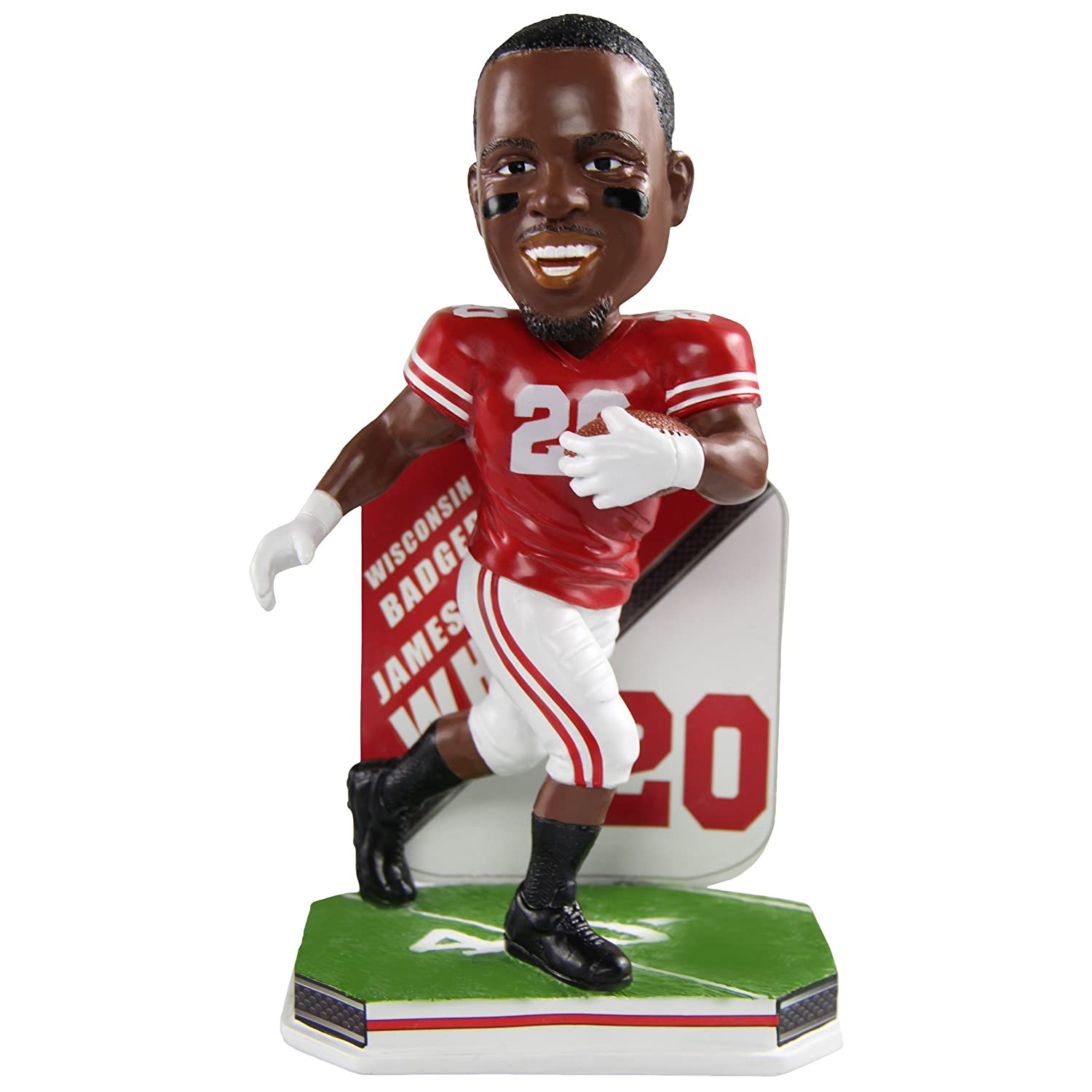 Forever Collectibles James White Wisconsin Badgers Special Edition College Name and Number Bobblehead
