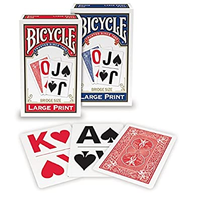 Bicycle Large Print Playing Cards (2-Pack): Sports & Outdoors