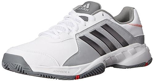 new concept 98c75 f00dd Adidas Performance Barricade Corte largo scarpe da tennis, Bianco   Grigio  metallizzato   argento, 1  Amazon.it  Scarpe e borse