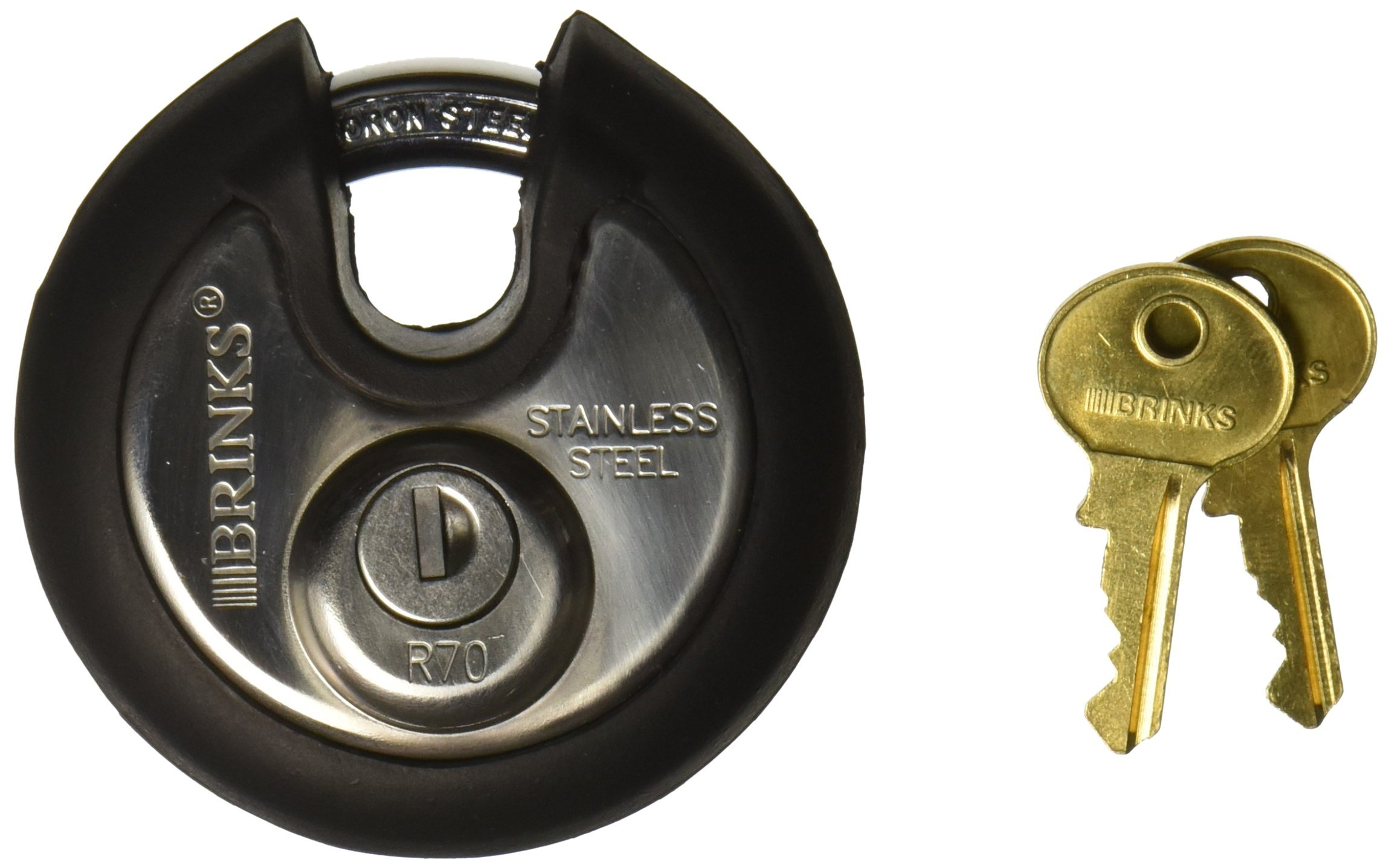 Brinks 673-70001 Commercial Discus Lock with Boron Shackle