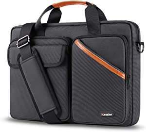 iCozzier 13-13.3 Inch Multi-Pocket Laptop Sleeve Briefcase Large Capacity Shoulder Bag Electronic Accessories Organizer Waterproof Messenger Carrying Case - Black