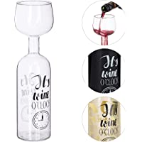 Relaxdays - Botella de Vino Transparente, Cristal, tamaño