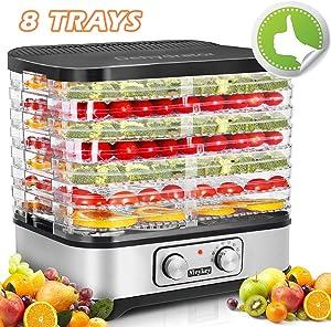 Homdox Food Dehydrator Machine, Jerky Dehydrators with 8 Trays, for Jerky/Meat/Beef/Fruit/Vegetable, 400Watt, Knob Button