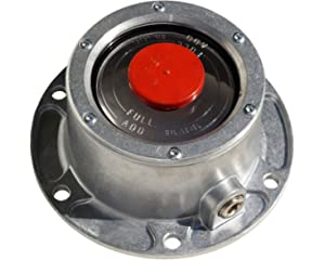 STEMCO 343-4009 REPLACEMENT 6 HOLE ALUMINUM HUB CAP WITH SIDE PIPE PLUG AND GASKET