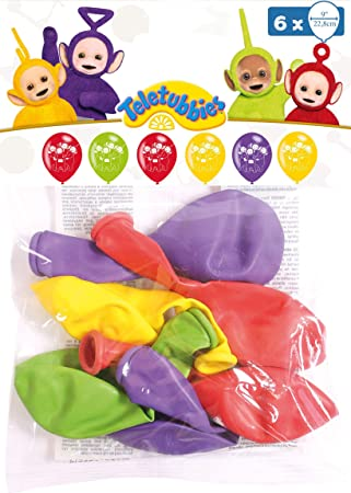 amscan 9901445 Teletubbies - Globos de látex (6 Unidades): Amazon ...