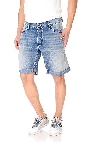 Bermuda jeans uomo Antony Morato denim blu: Amazon.es: Ropa ...