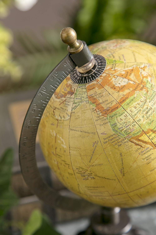 Home Decor Accents Globe Stand with Nickel Finish Base IMAX 5490 Colony Globe Metallic Globe World Globe Map