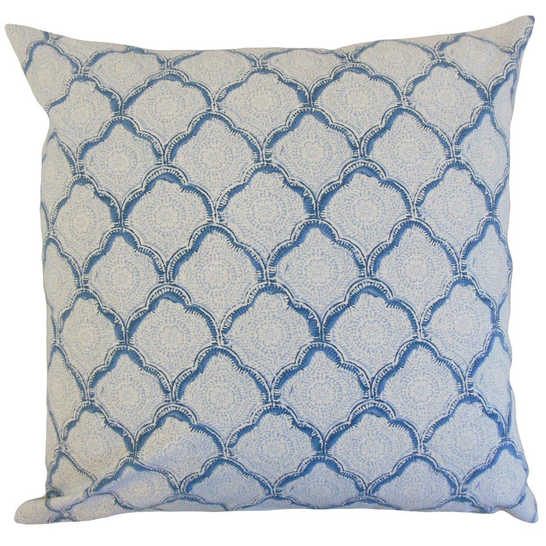 The Pillow Collection Padma Geometric Bedding Sham Sky King//20 x 36