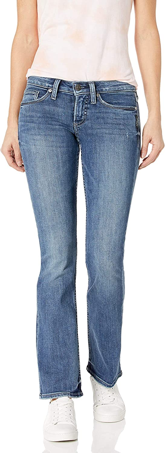 Womens Tuesday Low-Rise Slim Bootcut Jeans Silver Jeans Co