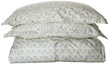 Amazoncom Echo Design Mykonos Duvet Cover King Size Seafoam Blue