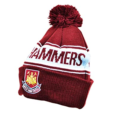 West Ham United FC Adult Text Cuff Beanie Bronx Knitted Hat  Amazon.co.uk   Sports   Outdoors f8f585d71381