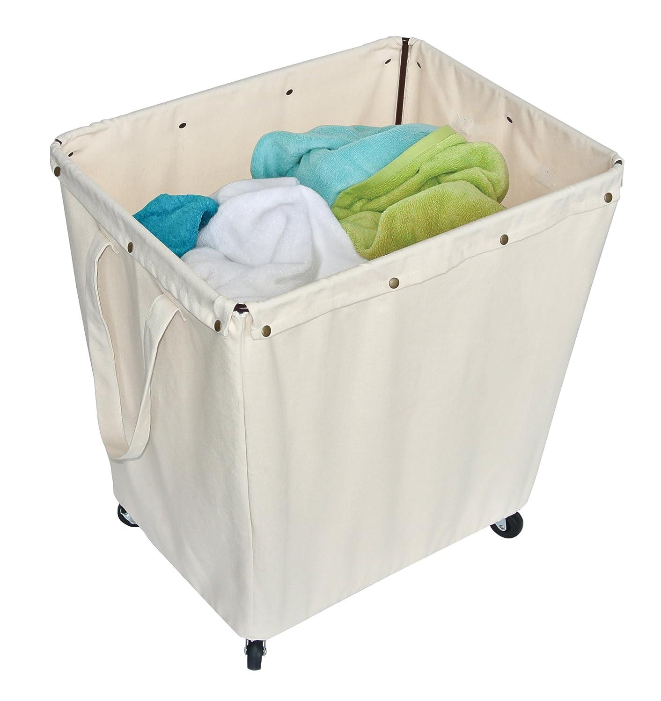 Amazon Homz Heavy Duty Canvas Laundry Hamper Casters Khaki Liner Large Capacity 5 Loads Of Home Kitchen