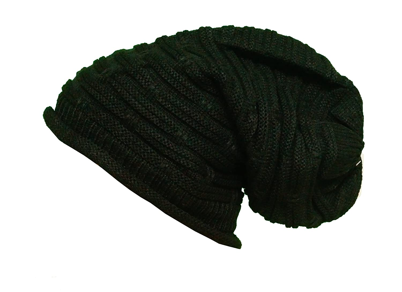 Damen Mütze Long Slouch Beanie Trend Mütze Wintermütze Ski Strickmütze Ünisex