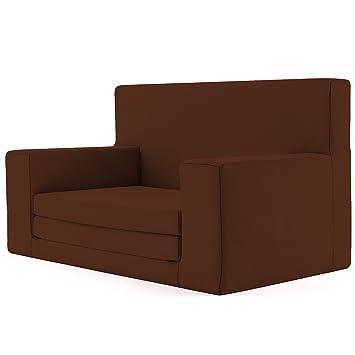 Charlie & Finn 2 en 1 sofá Cama Infantil Color Marrón de Espuma viscoelástica: sofá Cama súper Suave y Seguro para niños Entre 1 y 4 años, Tumbona ...