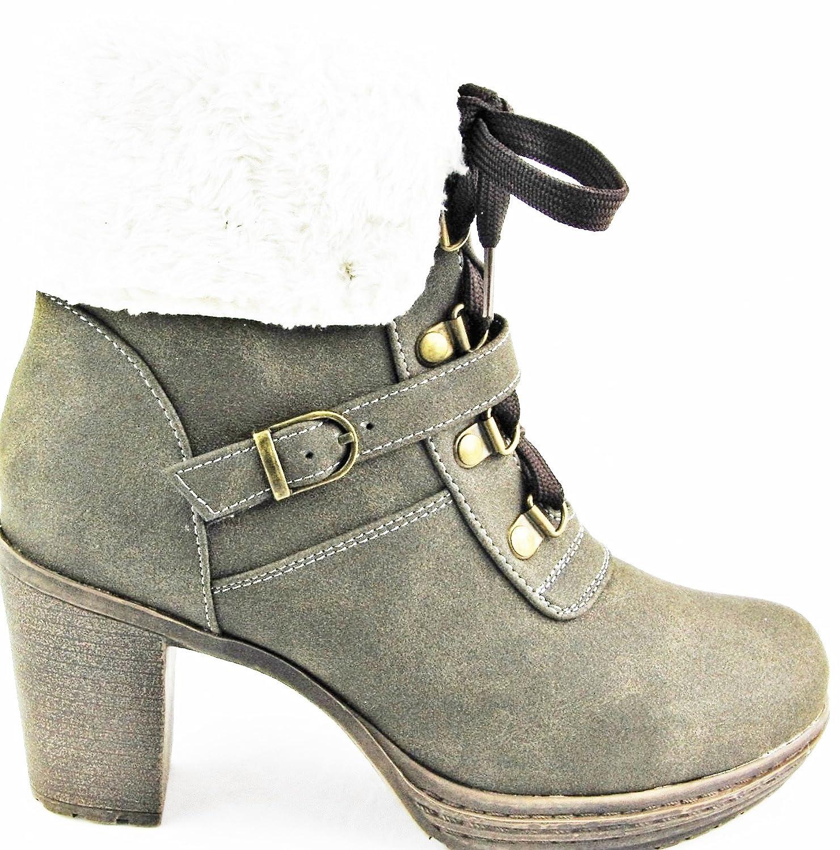 Andrea Conti Cielo Azul Botas Botines nuevo taupe 2015, color Marrón, talla 40: Amazon.es: Zapatos y complementos