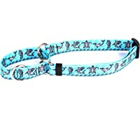 "Tribal Seas Blue Martingale Control Dog Collar - Size Large 26"" Long - Made in The USA"