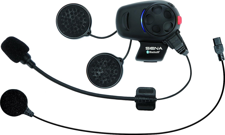 Sena SMH5-UNIV Kit de auriculares e intercomunicador Bluetooth para motos y scooters con micrófono universal, paquete unitario, Single Pack