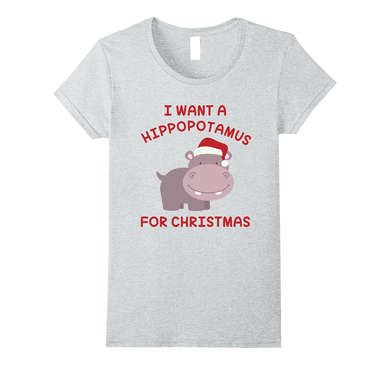 Amazon.com: I Want A Hippopotamus For Christmas Gift Funny Hippo T ...