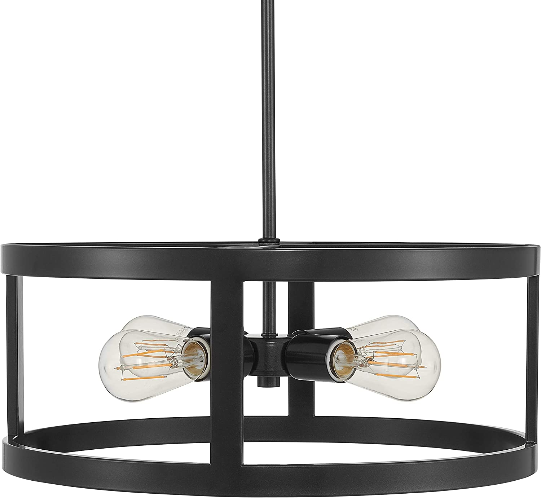 Athenae 4 Light Exposed Semi Flush Mount Ceiling Light Dark Bronze Pendant Light with LED Bulbs LL-CL701-6DB