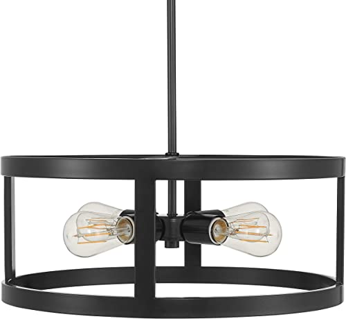Athenae 4 Light Exposed Semi Flush Mount Ceiling Light Dark Bronze Pendant Light with LED Bulbs LL-CL701-6DB