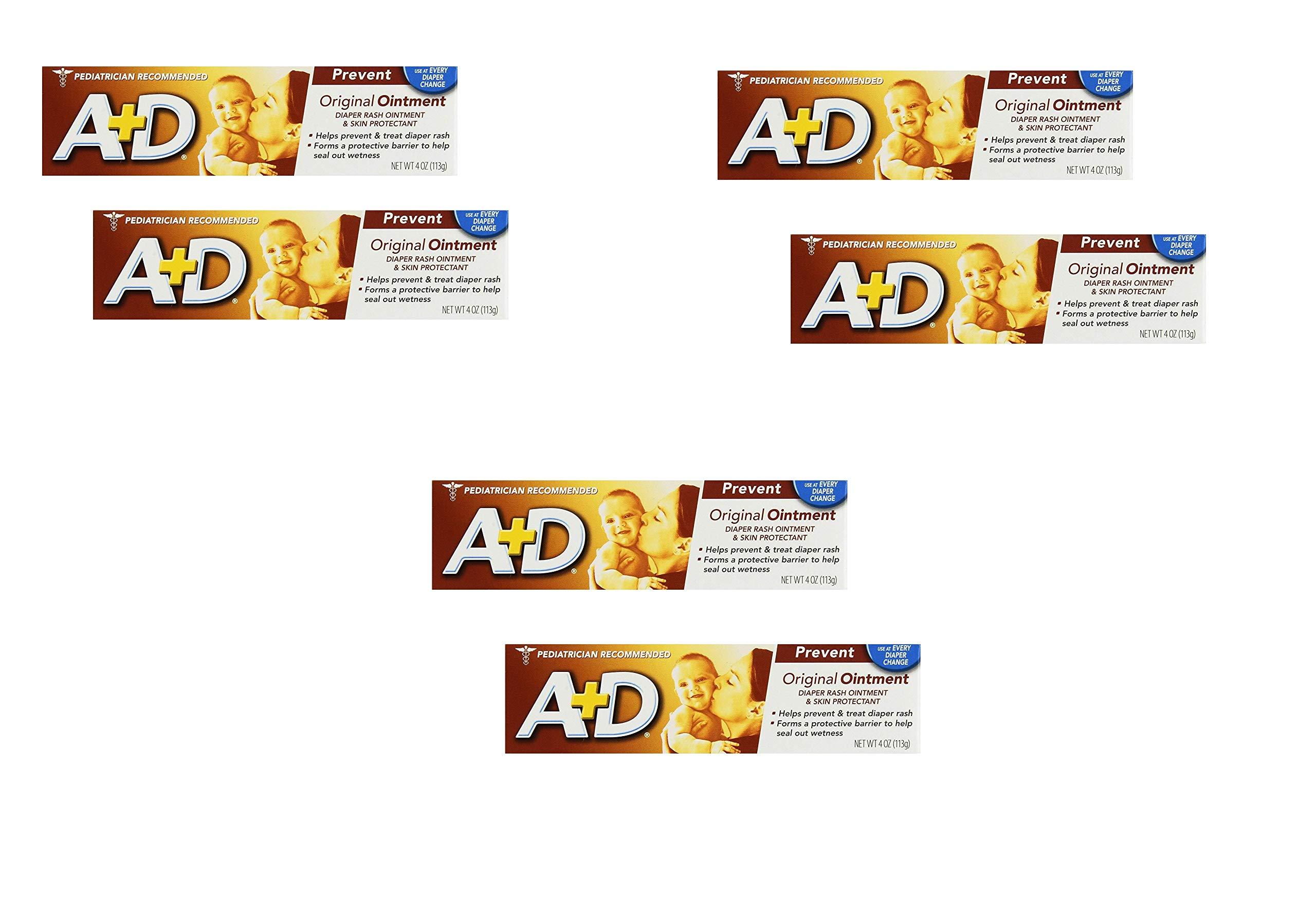 A & D Diaper Rash Ointment 4 oz, 2 Count (3 Pack) by A&D