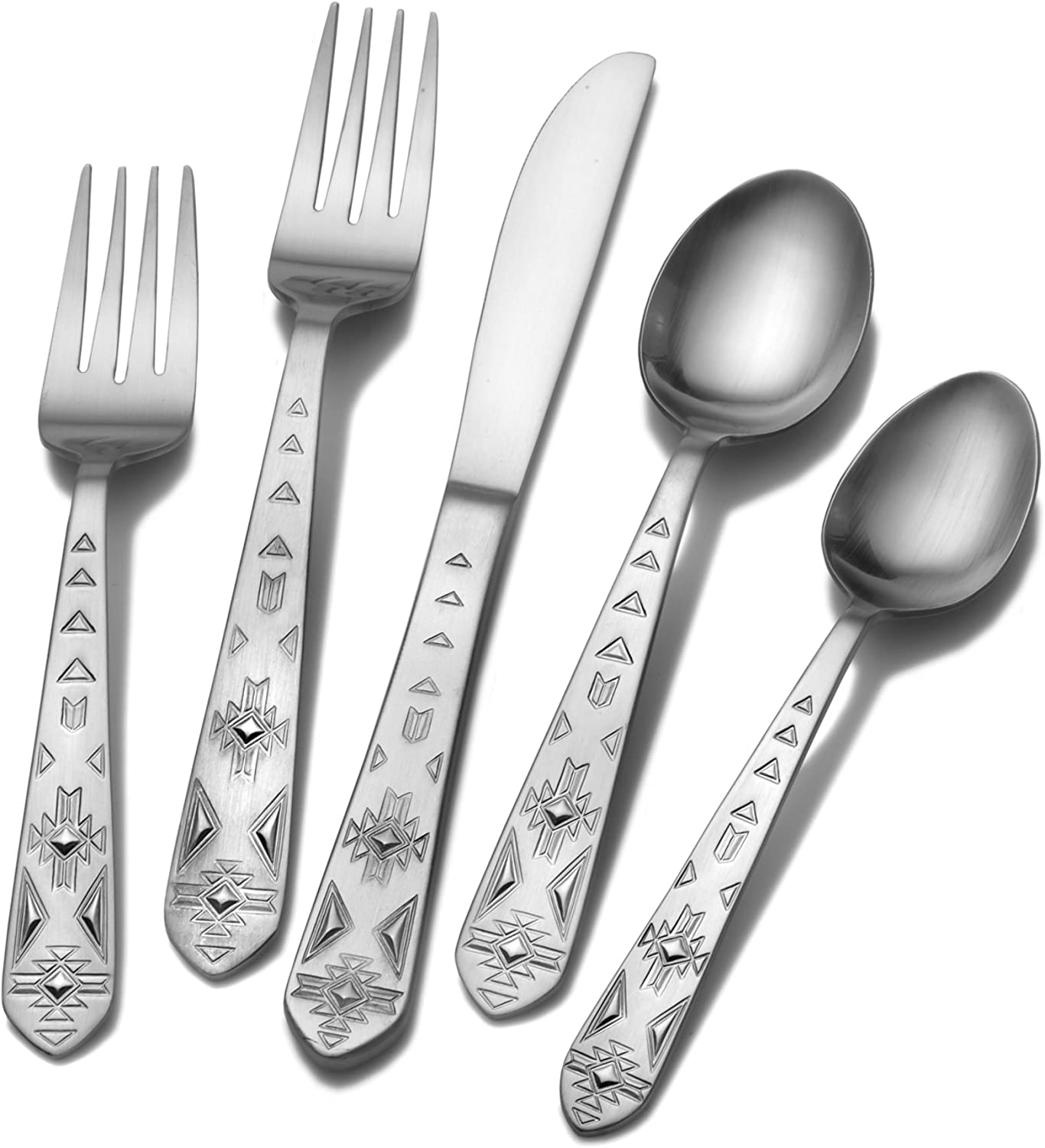 Towle Everyday 5112957 Pueblo 20-Piece Stainless Steel Flatware Set, Service for 4