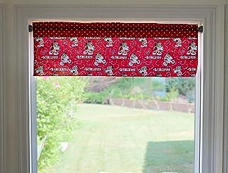 lovemyfabric Cotton Chevron Striped Mix Print Kitchen Curtain//Window Valance