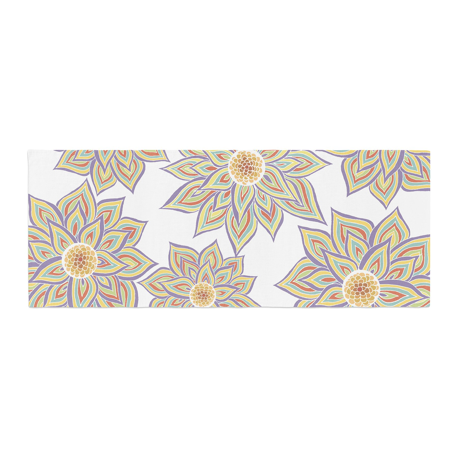 Kess InHouse Pom Graphic Design Floral Dance Bed Runner, 34'' x 86''