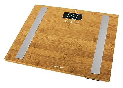 Jata Hogar 577 - Analizador corporal y bascula, con visor LCD y superficie de bambu