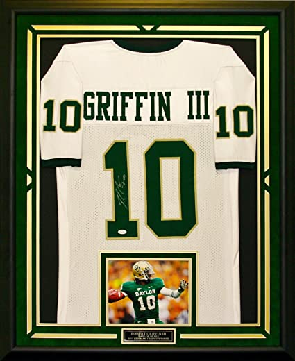 separation shoes 65631 0f949 Robert Griffin III Autographed & Framed Baylor Jersey at ...