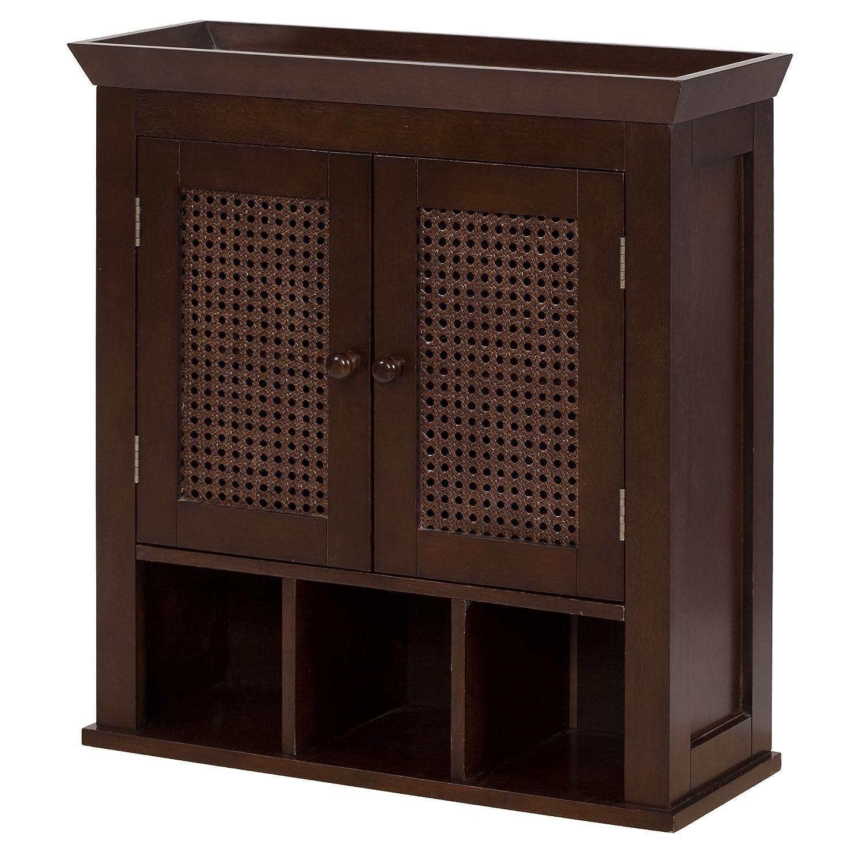 Amazon Elegant Home Fashions Wall Cabinet with Cane Paneled
