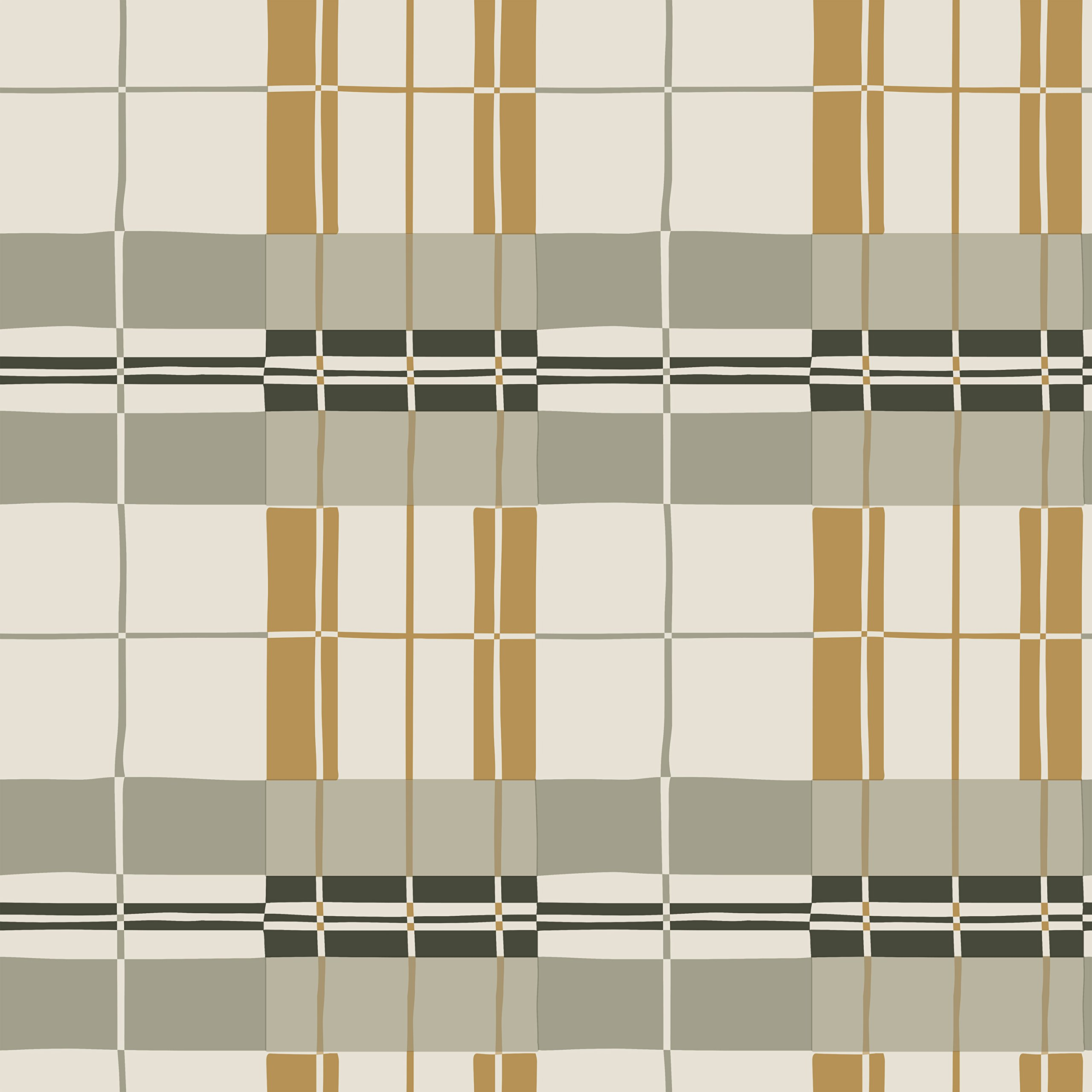 Novogratz PA474 Paired Back Plaid Removable Wallpaper, 28 sq. ft, Mustard