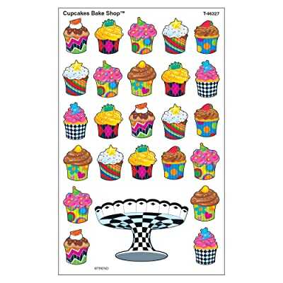 TREND enterprises, Inc. Cupcakes The Bake Shop superShapes Stickers-Large, 200 ct: Toys & Games
