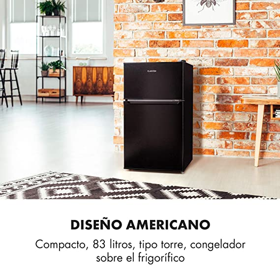 Klarstein Big Daddy Cool Black Edition - Nevera con congelador ...