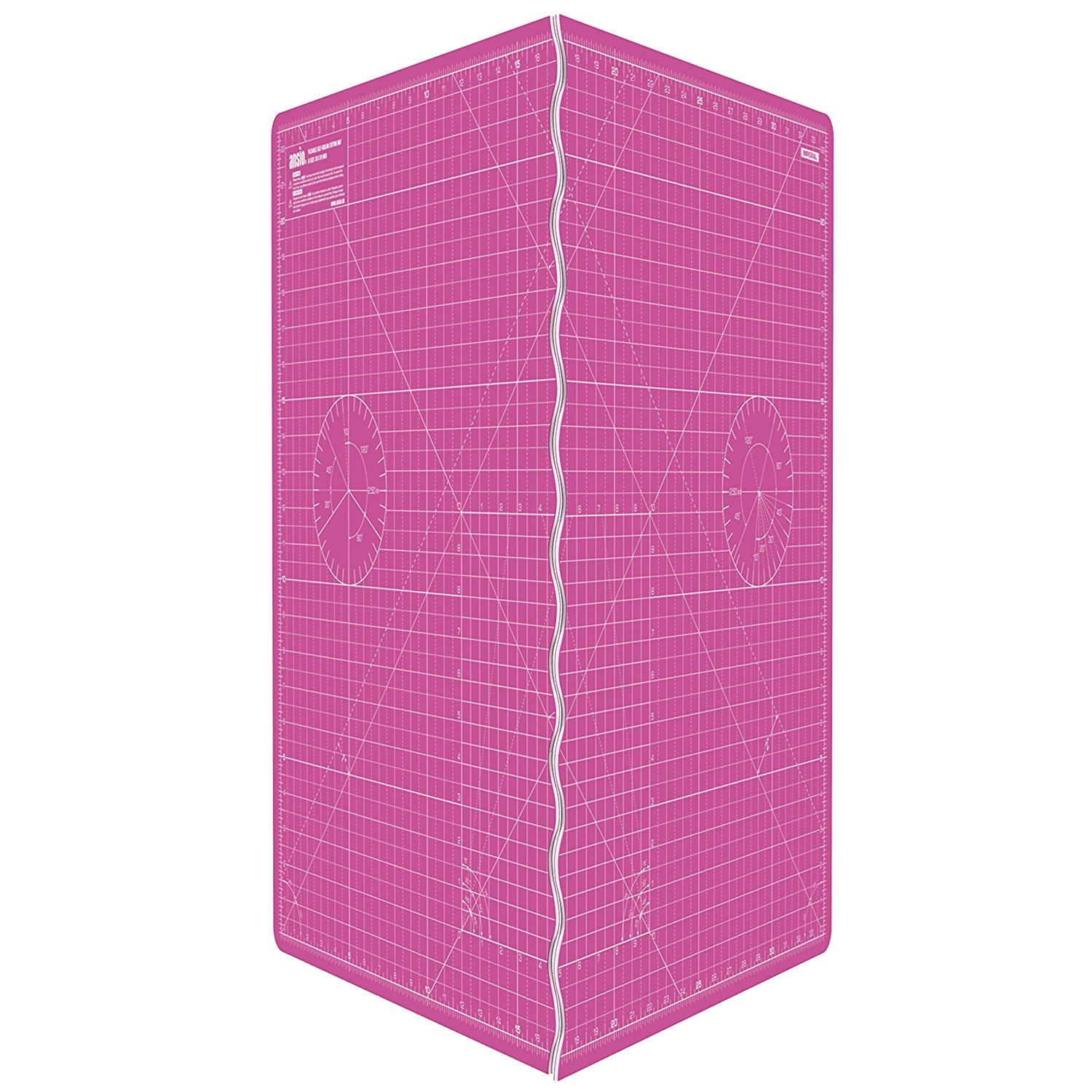 ANSIO A1 Foldable Self Healing Cutting Mat Imperial 34 inch x 22.5 inch - Pink