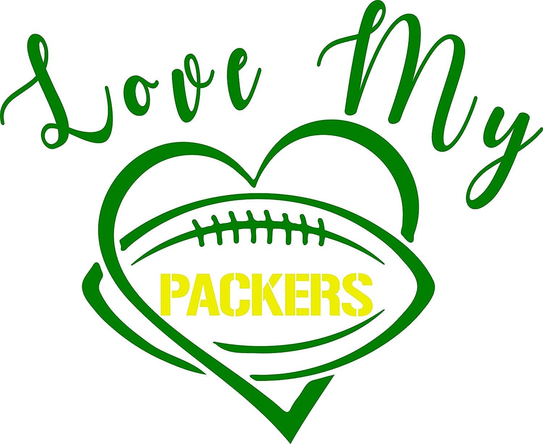 6abbf5b8 Love My Packers T Shirt Green Bay Packers Cheese Head WI NFL T Shirt