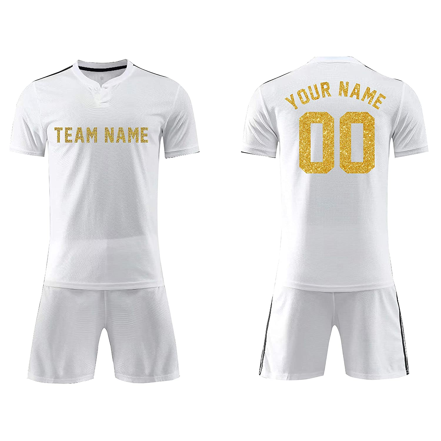 SPORTLAUKEXIN Custom Training Soccer Jersey,Personalized Any Name Number Soccer Jersey /& Shorts,Custom Player,Sports Uniforms