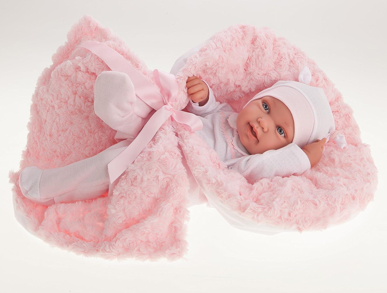 Babypuppe Recien Nacida Pipa 42 cm Antonio Juan, anatomisch korrektes Mädchen Anton Juan AJ5006